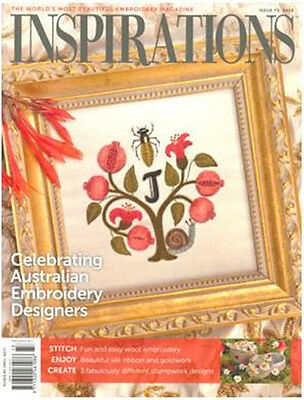 Inspirations Issue #73 Embroidery Sewing Magazine Incl Patterns - New