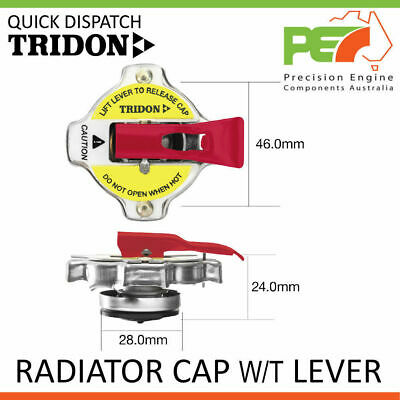 New * TRIDON * Radiator Cap w/ Safety Lever For Ford Courier PE PH (V6)