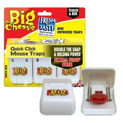 The Big Cheese Quick Click Mouse Trap Kill Ready Baited STV 140 Pest
