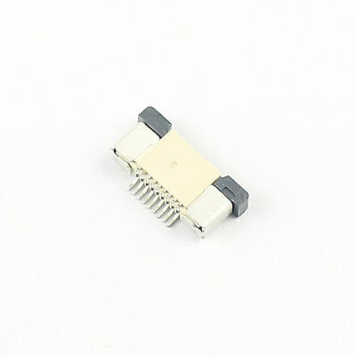 10 Pcs FPC FFC 0.5mm Pitch 9 Pin Drawer Type Ribbon Flat Connector Top Contact