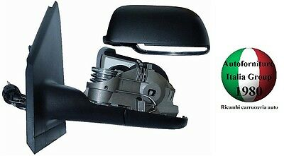 SPECCHIETTO RETROVISORE DX VOLKSWAGEN FOX 2005-2009 MECCANICO NERO TOP QUALITY