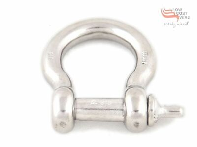 Bow Shackle STAINLESS STEEL 8mm G316 D Shackle for trailer chain