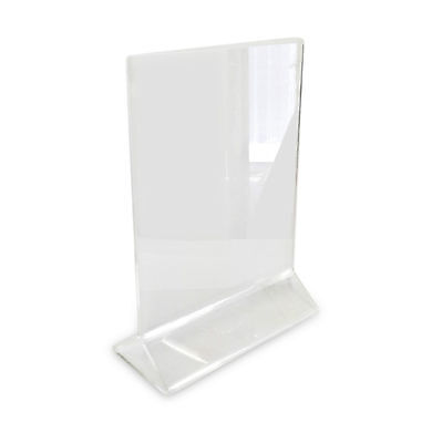 "Acrylic Table Card Menu Holder Stand Restaurant 4"" x 6"" TH"