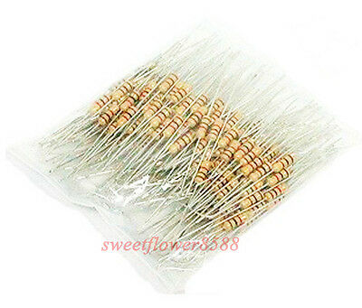 100 pcs 470 Ohm Resistors 1/4W Ideal for 12V LEDs 470R