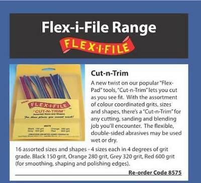Albion Alloys 8575 - Flex-i-File #8575 Cut-N-Trim Assortment Flexible File Pack