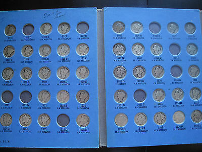 Partial mercury dime set 67 pieces many G - YG early dates(x14)