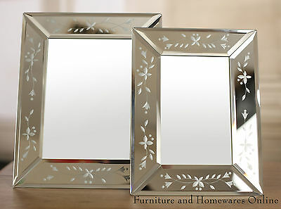 Venetian Photo Frames Glass Etched Edge Picture Frame 4x6 & 5x7 BRAND NEW