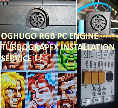 PC-Engine Duo Coregrafx Turbograf-16 THS7314 RGB Amp & power LED Installation
