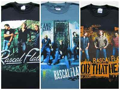 LOT of 3 different RASCAL FLATTS Tour size SMALL T-SHIRTS concert