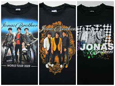 LOT of 3 different JONAS BROTHERS tour SMALL concert T-SHIRTS