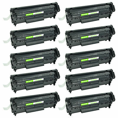 10 PK Brand New Q2612A 12A Compatible HP Laser Toner Cartridge High Yield Print