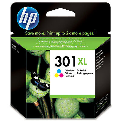 Genuine Oem Hp High Capacity Tri - Colour Hp 301Xl (Ch564Ee) Ink Cartridge