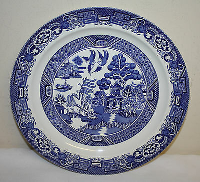 Blue Willow Woods Ware Wood & Sons England Dinner Plate