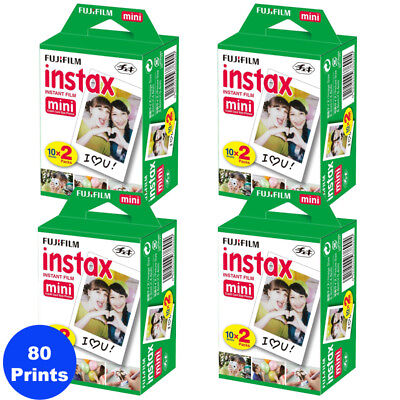 80 Prints Fujifilm Instax Mini Instant Film for Fuji 9-8 and all Mini Cameras