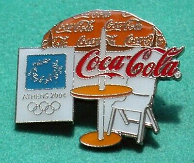 2004 Athens Olympics Coca-Cola Cafe Table Pin Limited!