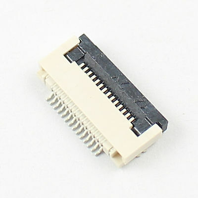 10 Pcs FPC FFC 0.5mm Pitch 14 Pin Flip Type Ribbon Flat Connector Bottom Contact