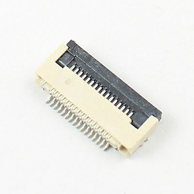 10 Pcs FPC FFC 0.5mm Pitch 16 Pin Flip Type Ribbon Flat Connector Bottom Contact