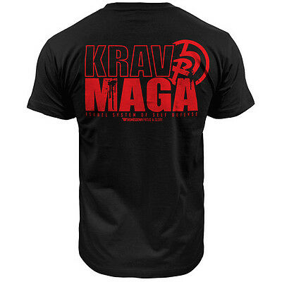 T-Shirt Thumbsdown Krav Maga ! Ideal For Mma, Training, Casual Wears! Ts330 Blk