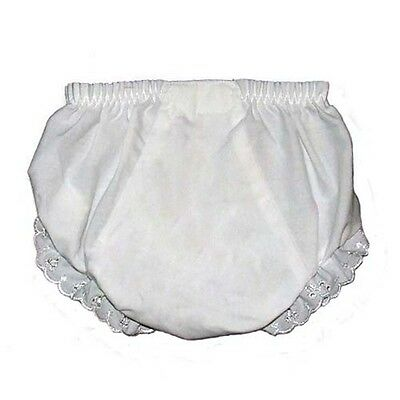 Baby Diaper Covers Bloomers Embroidery Blank - White - 4T