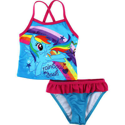 My Little Pony Toddler Girls Blue Tankini Swimsuit Swimwear 270482 2T 3T 4T