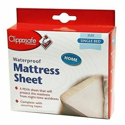 Clippasafe Waterproof Child Baby Kids Mattress Protector Sheet (Single Bed)