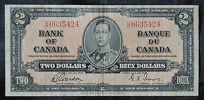 BANK OF CANADA - 1937 $2 Note - Prefix U/B- Signed Gordon & Towers - NCC