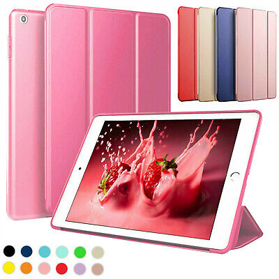 Folded Magnetic Smart Cover Leather Back Case for Apple iPad 9.7 Air 1 2 2017/18