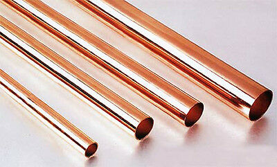 Albion Alloys Copper Tube 3.0 mm OD x 2.1 mm ID x 0.45 Wall Pack of 4 CT3M