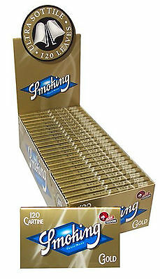 Cartine SMOKING ORO CORTE DOPPIE Gold 10-15-20-25-50 Libretti
