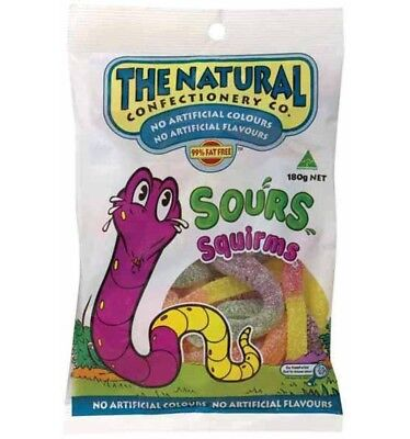 The Natural Confectionery Co. Squirms 180g x 12