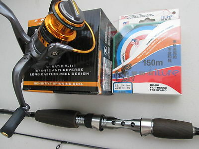 Tinberline Spinning Rod Hh1000 Reel Reel Line Bass Bream Whiting Spinning Combo
