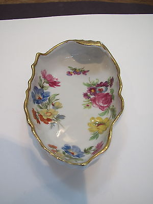 Lefton China #7164 hand painted floral pattern nut/ candy dish-orig label-Japan