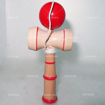 NEW Kendama Tradition Japanese RED Ball Wood Classic Toy Bilboquet 17.5CM Large