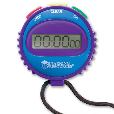 Simple Stopwatch - Children's Stop Watch Sports and Classroom Timer with Lanyard