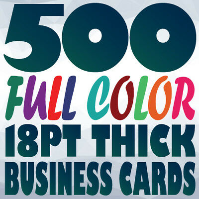 500 18pt BUSINESS CARD Printing on Two Sides Full Color UV Gloss or Uncoated
