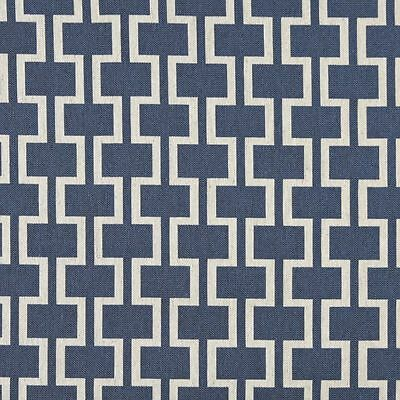 A0006e Blue Off White Modern Geometric Upholstery Fabric By The Yard