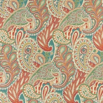 A0019C Gold Red Green Orange Bright Contemporary Upholstery Fabric By The Yard