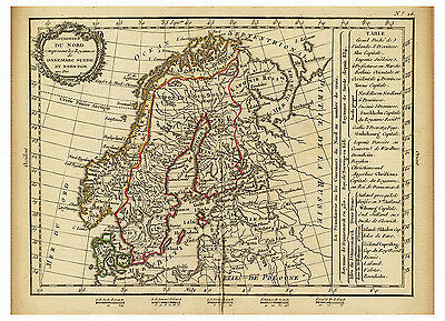 Scandinavia Sweden Norway Finland Denmark map Lattre Delamarche ca.1800