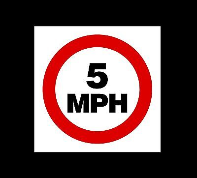 5 MPH Speed Limit - Traffic Calming / School / Safety Plastic Sign (MISC39)