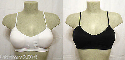 a5b1e65c2a78 Reggiseno top DONNA microfibra sportivo modellante bra invisibile push up  NERO