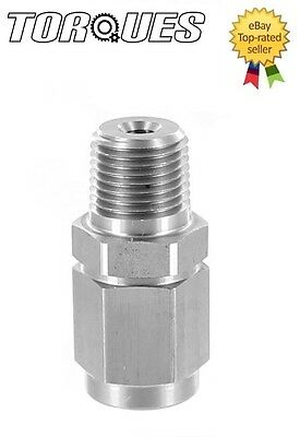 """AN-3 (3AN) To 1/8"""" NPT MALE Stainless Steel Oil Pressure Gauge Take Off Adapter"""