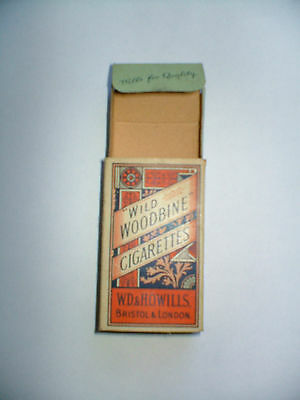 """Antique """"wild Woodbine Cigarettes Packet Of 10"""" Empty Box"""