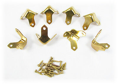 8pc. Small Brass Trunk/Box Corners - a Great Accent for Your Project! 32-76-01
