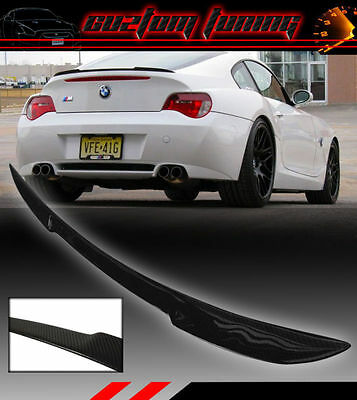 Real Carbon Fiber Trunk Duck Lid Spoiler Wing For 2003-2008 Bmw Z4 Coupe Z4M E86