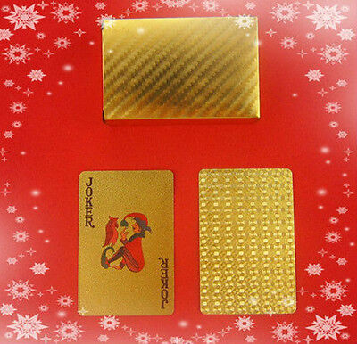 24k Gold Playing Cards Deck Poker/Casino with Certificate of Authenticity