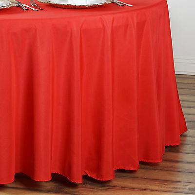 "10 RED 90"" ROUND POLYESTER TABLECLOTHS Wholesale Wedding Decorations Supplies"