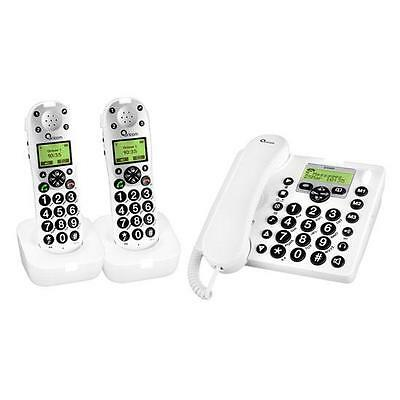 Oricom Pro910-2 Amplified Phone Combo With Answering Machine+New