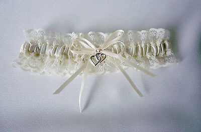 Wedding Garter  -  Ivory/cream/lace - S, M, Or L