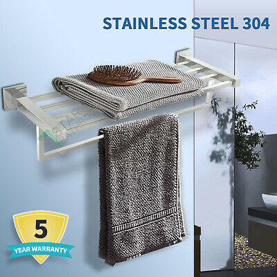 600mm Towel Shelf Rack Rail Display Stainless Steel Wall Mounted Holder Bathroom