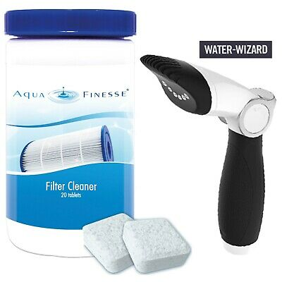 Aquafinesse Filter Cleaner PACKAGE 20 Tablets and Jet Wand Hot tub Spas Pool Spa